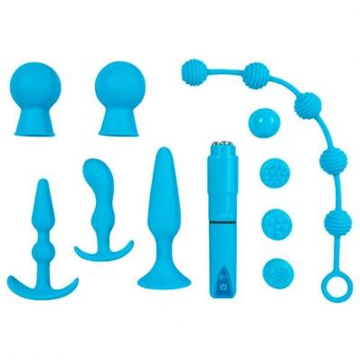 10 Piece turquoise sex toy set