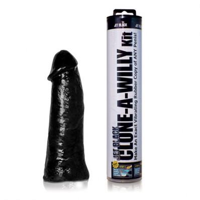 Clonați un vibrator negru Willy Jet